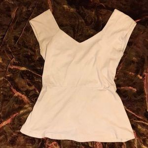 Open back with cap sleeves top